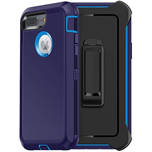 FYSZBOX for iPhone 8 Plus Case, iPhone 7 Plus Case Triple Layer Built-in Screen Protector Shockproof Drop Proof Heavy Duty Full Body Rugged Protection Phone Case Cover for Apple iPhone 8 Plus/7 Plus