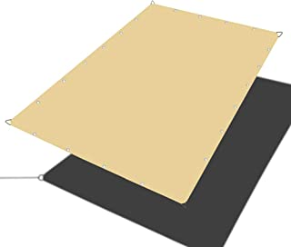 Alion Home Waterproof Rectangle Sun Shade Sail Straight Edge Canopy Cover with Grommet for Pergola Patio Gazebo Carport Outdoor Car Tent (10' x 12', Desert Sand)