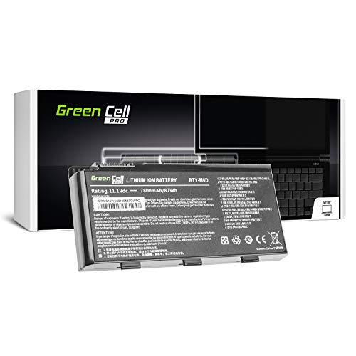Green Cell® PRO Serie BTY-M6D Batería para MSI GT60 GT660 GT680 GT683 GT70 GT780 GX660 GX680 Ordenador (Las Celdas Originales Samsung SDI, 9 Celdas, 7800mAh, Negro)