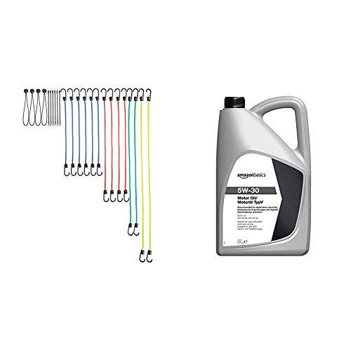 AmazonBasics - Cuerda elástica - Paquete de 24 + Aceite de