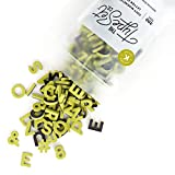 The Type Set Co. Modern Magnetic Letters for Home Decor • 200pcs Set with 1-inch Tall Uppercase Letters, Numbers, Symbols, and Punctuation Made with a Soft EVA Foam in Sans Serif Font (Key Lime)