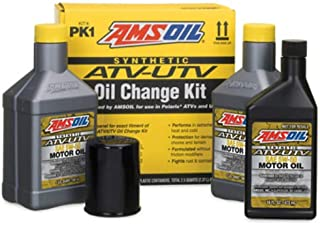 AMSOIL PK1 ATV/UTV Oil Change Kit 5W-50 Synthetic (2.5 Quarts of AUV50 and 1 Oil Filter)