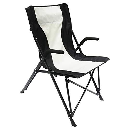 Homecall - Opvouwbare campingstoel - (zwart/crèmewit)