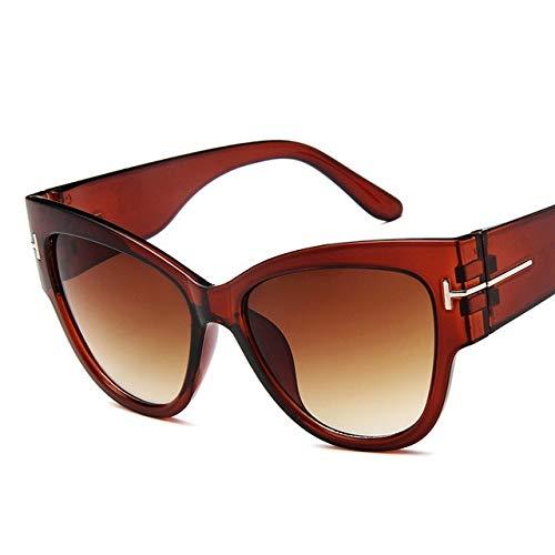 UKKD Gafas de sol Moda Marca Diseñador Gato Ojo Mujeres Gafas De Sol Femenino Puntos De Pendiente...