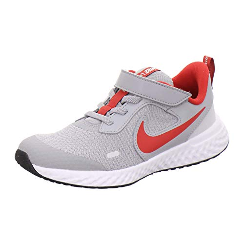 Nike Revolution 5 (PSV), Zapatillas para Correr, Grey Red, 28 EU