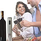 Electric Wine Bottle Opener and Preserver - Wine Opener - Automatic Wine Bottle Openers - Wine Enthusiast Wine Opener - Wine Enthusiast Electric Blue Push Button Corkscrew