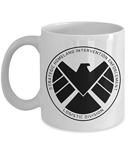 Marvel Agents of Shield Logo Tasse (weiß) 313 ml – Agents of Shield – Agents of Shield Merchandise – Agents of Shield TV Show Eagle Crest Log