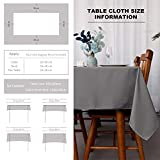 VOTOWN HOME Tischdecken Abwaschbar Tischwäsche, Wasserabweisende Tischläufer, Fleckschutz pflegeleicht Tischtuch mit Lotuseffekt, Tischdecken Eckig 130x260 cm, Hellgrau - 4