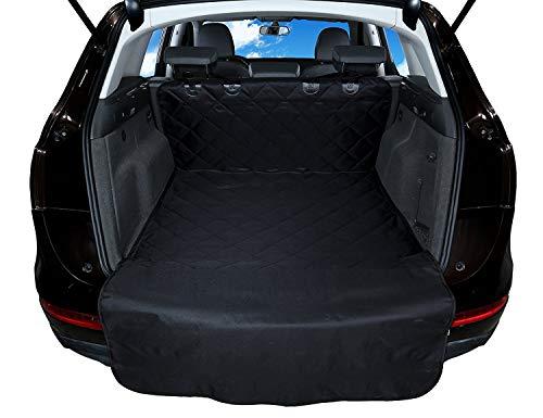 Kofferraummatte für Hunde Kofferraumwanne Schutz - wasserdicht - abwaschbar schmutzabweisend - Weiche Antirutschmatte + Stoßstangenklappe - Schutzdecke für Cargoeinlage - für PKW, SUV, LKW