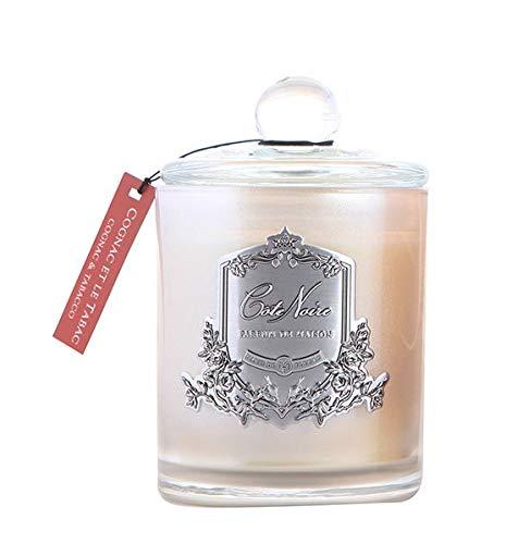 Cote Noire SILVER 185 Cognac Et Le Tabac - Cognac & Tabak geurende kaars in een glazen pot