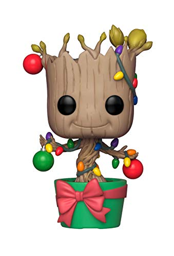 Funko 33982 POP Bobble: Marvel: Holiday Groot w/ Lights and Ornaments