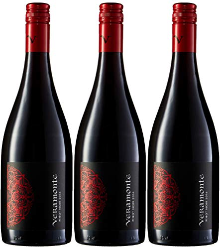 Veramonte Pinot Noir - Vino Chile - 3 Botellas x 750 ml - Total : 2250 ml