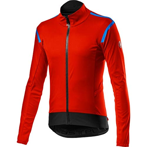 castelli Alpha Ros 2 Light Jacket Chaqueta Deportiva, Hombre, Fiery Red, X-Large