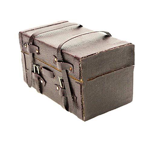 perfeclan Antiguo 1/12 1/6 Escala Dollhouse Maleta De Viaje Equipaje para BJD Decoración