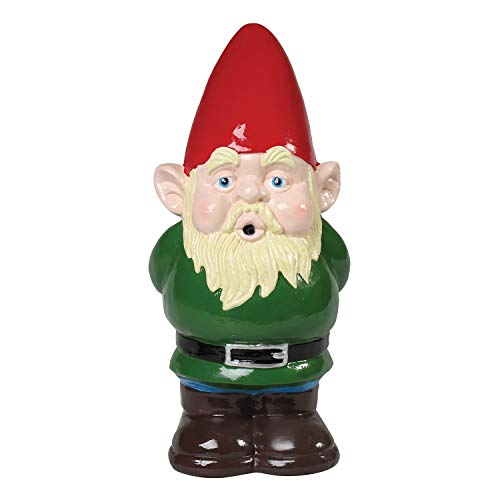 WHAT ON EARTH Whistling Garden Gnome - Motion Activated Sound Outdoor Sculpture - Battery Operated Lawn Ornament