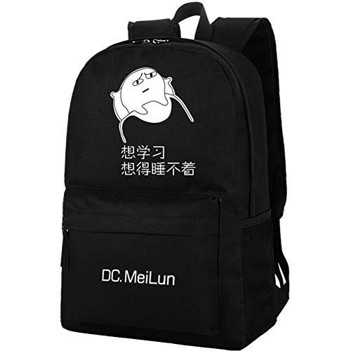 LJLis Mochilas Bolsas Backpack Schoolbag Equipaje Mochilas para portátiles y netbooks,Mochila Emoticones antiarañazos para Estudiantes, Unisex,Ordinary