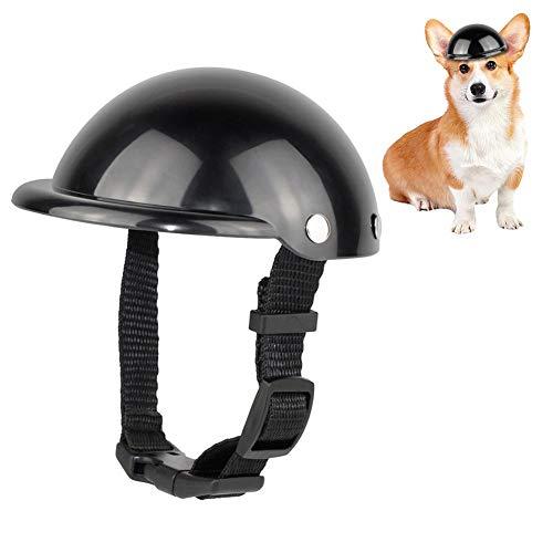 Hunde Helm Hundekappe Haustier Helm Cool Hund Hat Einstellbare Kappe Hundehelm Haustier Fahrradhelm Motorrad Auto Sicherheitsmütze Oder Katzen Hunde Im Freien