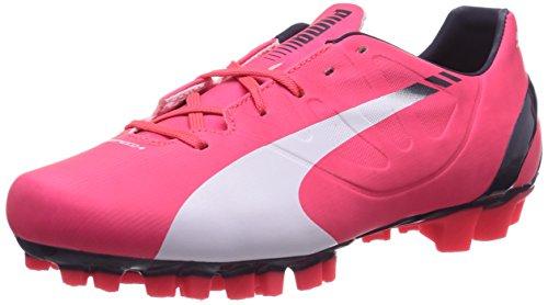Puma Evospeed 4.3 AG Jr, Botas de fútbol Infantil, Rojo-Rot (Bright Plasma-White-Peacoat 03), 32 EU