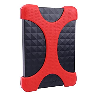 Soft Drop Proof Silicone External Hard Drive Case HDD Bumper for Seagate Expansion/ Backup Plus Ultra Slim Portable Drive fits 1TB/2TB Mac/PC by Aenllosi
