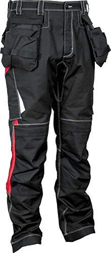 COFRA 48105 Arbeitshose Modell Leiria, Kollektion Ergowear, schwarz/rot (44)