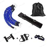 Fuerza Boxeo Resistencia Banda Resistencia Cuerda de tracción ágil Banda de Resistencia de Goma Cuerda de Entrenamiento de Salto de Baloncesto - Conjunto Azul, 1