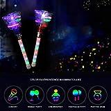 Sahgsa Bacchetta Magica, candelette a LED luci a Forma di Farfalla Bastoncini Lampeggianti Giocattoli bomboniere per Feste per Bambini, Colore Casuale