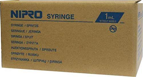 Nipro injectiespuit 1ml 3-delig 100 stuks