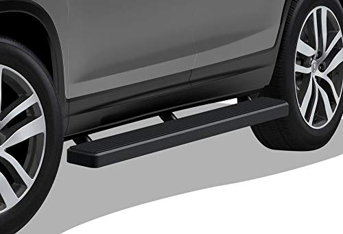 APS iBoard Running Boards (Nerf Bars Side Steps Step Bars) Compatible with Pilot 2016-2021 (Black Powder Coated 5 inches)
