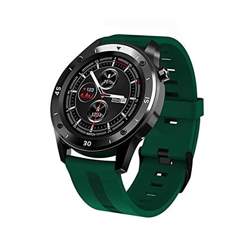 MARSPOWER F22 Relojes Deportivos Inteligentes para Hombre Mujer 1.3'Pantalla Redonda Full Touch Fitness Tracker Pulsera Android iOS Relojes Inteligentes inalámbricos con Bluetooth - Verde
