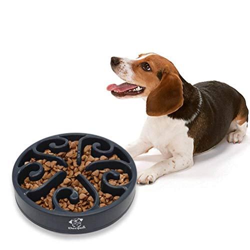 Decyam Gamelle antidérapante en Forme de Labyrinthe pour Animal Domestique - favorise Une Alimentation Saine et Une Digestion Lente