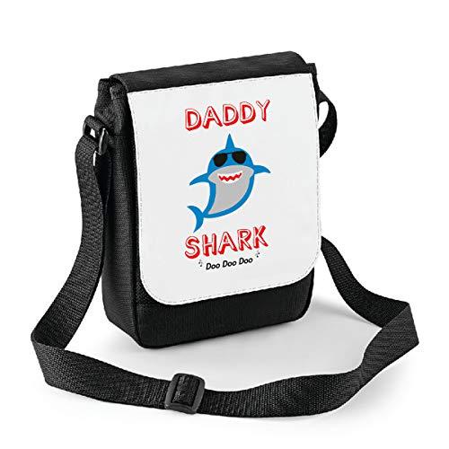 bubbleshirt Mini Borsa a Tracolla Festa del papà Daddy Shark - papà squalo - Happy Father's Day - Idea Regalo