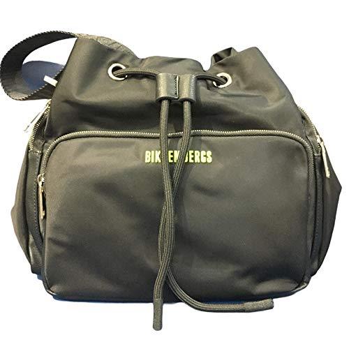 Bikkembergs Bolso de hombre tejido E1Q019 color negro 29 x 26,5 x 15 bolso de hombre casual colección 2021