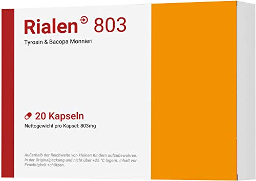 RIALEN 803 I Mit L-Tyrosin & Bacopa Monnieri I 20 Kapseln I Made in Germany