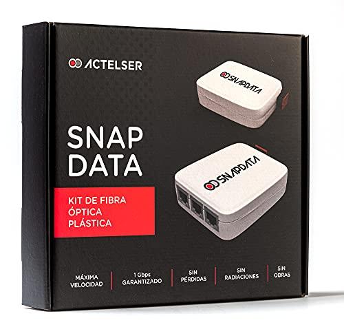 ACTELSER Kit Básico de Fibra Óptica Plástica Snap Data (20...