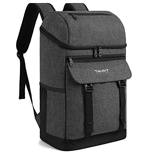 TOURIT Isolierte Kühltasche Cooler Rucksack Großer Kapazität für Männer Frauen Picknicks Parks Tag Reisen und Familie Reisen