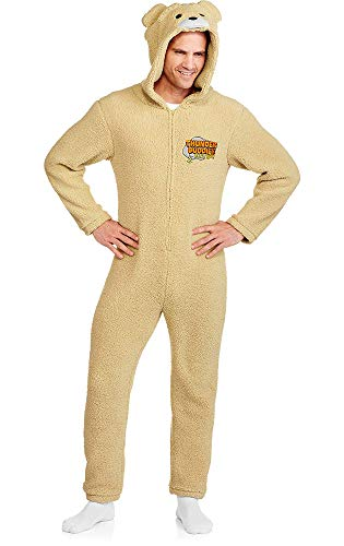 Ted c Thunder Buddies for Life Graphic 1 Piece Union Suit (L) Tan