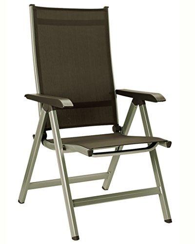 Kettler Gartenstuhl-Hochlehner - verstellbar & einfach zusammenklappbar - praktischer & komfortabler Klappstuhl - wetterfeste Gartenmöbel - Aluminium & robuster Kunststoff