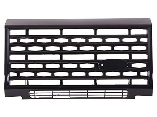 QIQIDIAN Compatibile con Land Rover Defender Accessori Auto Griglia Frontale Centrale Griglia Paraurti Anteriore Griglia Nera in Plastica ABS,Nero