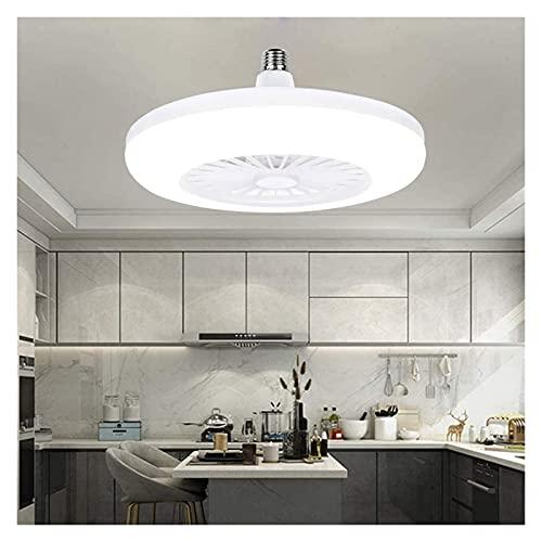 Accesorio de iluminación Luz blanca de 20W, ventilador de techo con iluminación, ventilador de ventilador LED, vidrio moderno creativo E27 Lámpara de lámpara Luz de ventilador, no regulable, 1 archivo