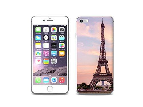 etuo Handyhülle für Apple iPhone 8 - Hülle Foto Hülle - Eiffelturm in Paris - Handyhülle Schutzhülle Etui Hülle Cover Tasche für Handy