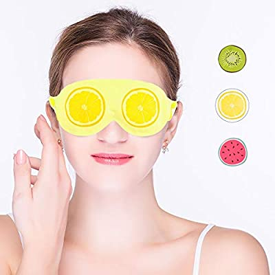 Cold Eye Mask Gel Eye mask for Hot Cold Therapy, Reusable Cooling Eye Mask Ideal for Sooth Puffy Eyes, Tired Eyes, Dark Circles, Migraine, Relaxation, Headaches and Hangovers