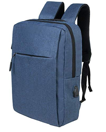 Anti-Theft Laptop Backpack,Business Travel Backpack Bag with USB Charging Port Lock,Water Resistant College School Computer Rucksack Work Backpack for Mens Womens Fits 15.6 Inch Laptop (Navy)