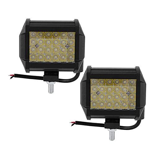 NERR YULUBAIHUO 2 unids 4in 72W LED Luz de Trabajo 30 Spotlight IP67 Lámpara Ajuste para camión Todoterreno SUV Boat 12V 24V Auto Accesorios de automóviles