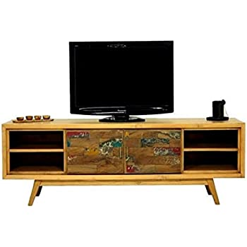 MATHI DESIGN Wood - Mueble de TV escandinavo (180 cm): Amazon.es: Hogar