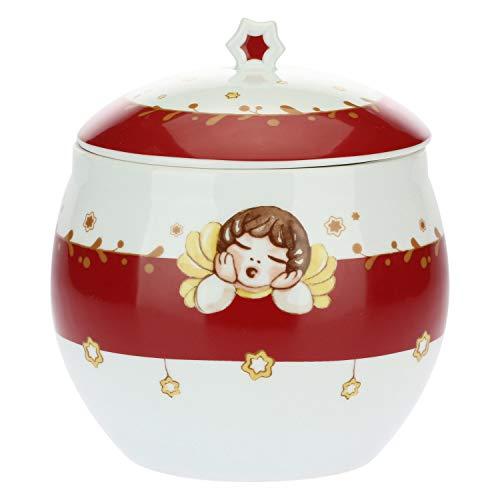 THUN ® - Biscottiera in Porcellana - Linea Dolce Natale