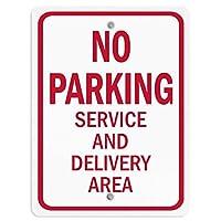 再生金属スズ標識駐車場サービスと配達エリアなし、警告標識危険プライベートプロパティサイン屋外の事前掘削安全金属標識