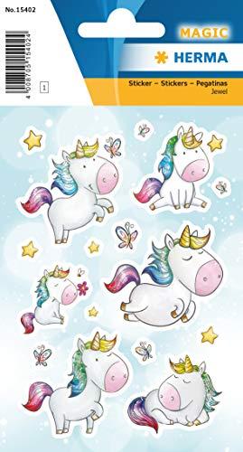 HERMA Sticker MAGIC Eenhoorn Sterrenstof Jewel