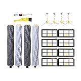 Accesorios de limpieza con cepillo lateral + filtro HEPA + cepillo de rodillo para aspiradora robot Roomba 800 860 870 880 890 900 960 980 Accesorios (color: HXL6199) (color: Hxl2074) kit de cepillos