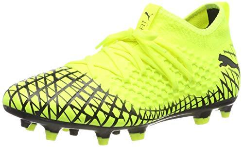 PUMA Future 4.3 Netfit FG/AG, Botas de fútbol para Hombre, Yellow Alert Black, 43 EU