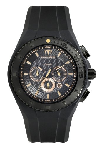 TechnoMarine Reloj para Hombre 109047 Cruise Night Vision Chrono Copper Index Negro